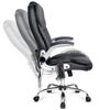 8 Point PU Leather Massage Chair - Black