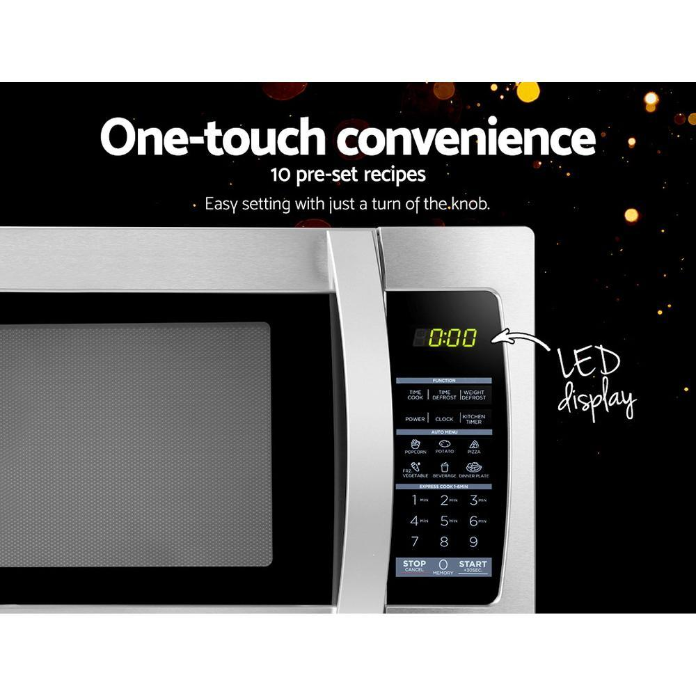 Midea 34L 1100W Electric Digital Solo Microwave Oven Kitchen Silver