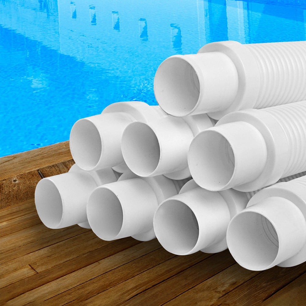 Aquabuddy Pool Cleaner Hose EVA Spare Length Generic White Kreepy Krauly 8x120cm