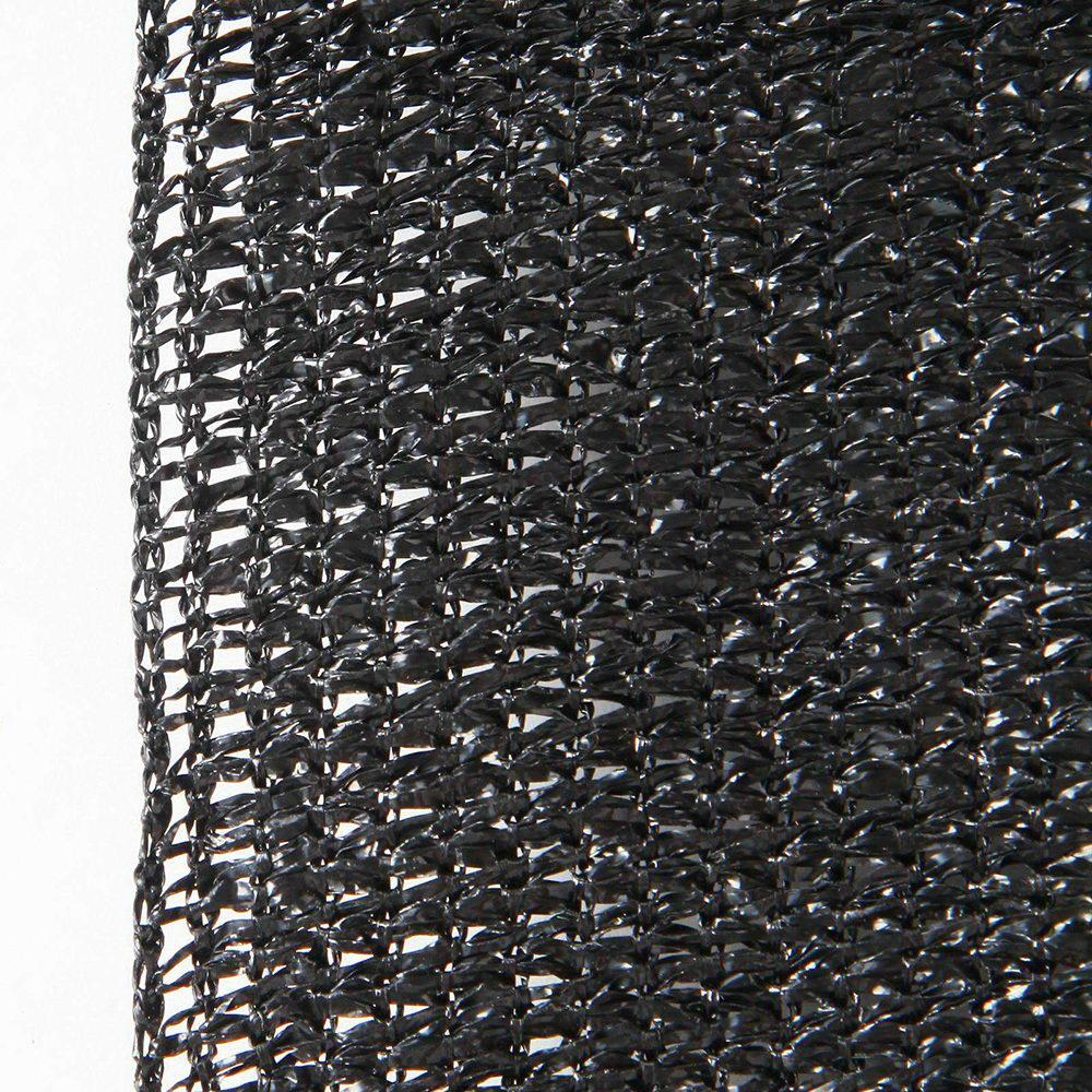 Instahut 50% UV Sun Shade Cloth Shadecloth Sail Roll Mesh Garden Outdoor 3.66x20m Black