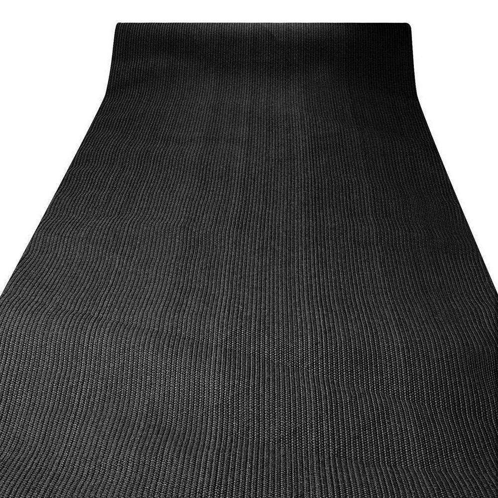 Instahut 50% UV Sun Shade Cloth Shadecloth Sail Roll Mesh Garden Outdoor 3.66x30m Black