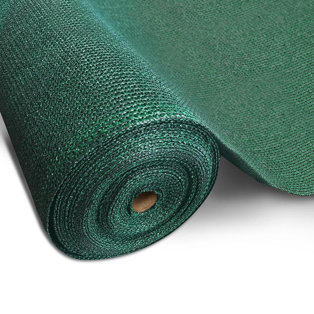 Instahut 50% UV Sun Shade Cloth Shadecloth Sail Roll Mesh Garden Outdoor 3.66x30m Green