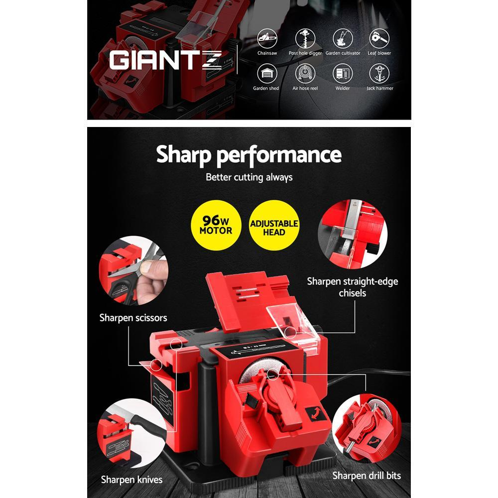 GIANTZ Electric Multi Tool Sharpener Function Drill Bit Knife Scissors Chisel
