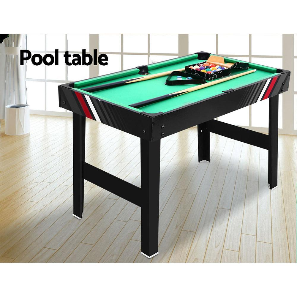 4FT 4-In-1 Soccer Table Tennis Ice Hockey Pool Game Football Foosball Kids Adult