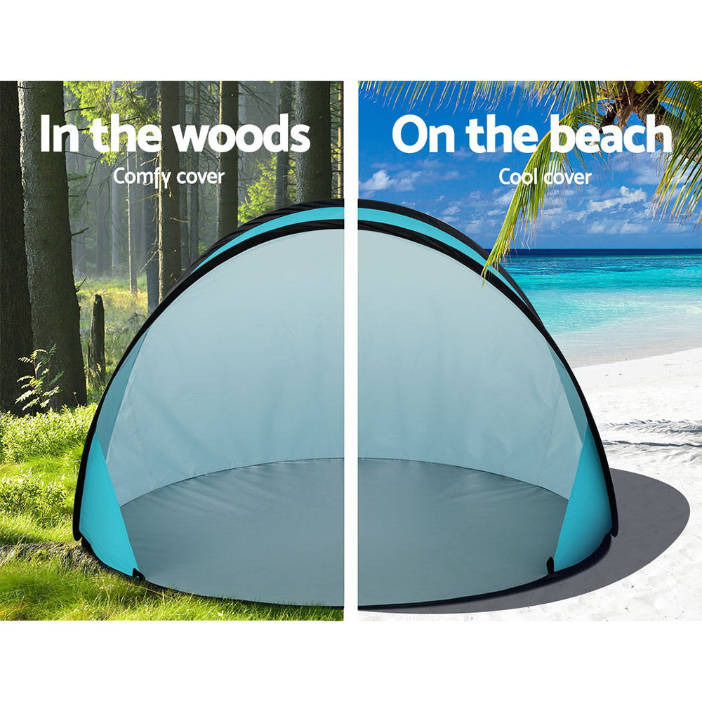 Weisshorn Pop Up Beach Tent Camping Portable Sun Shade Shelter Fishing