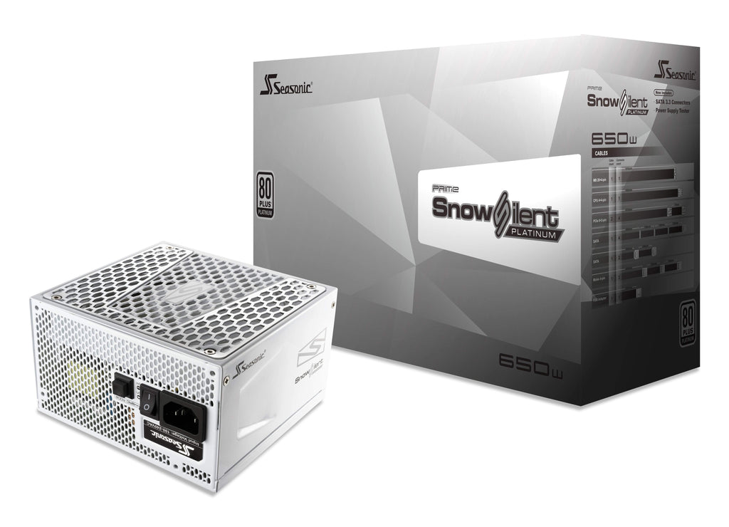 SeaSonic 650W PRIME Snow Silent Platinum PSU (SSR-650PD2-SNOWSILENT)