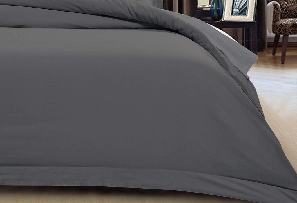 Super King Size 500TC Cotton Sateen Fitted Sheet (Charcoal Color)