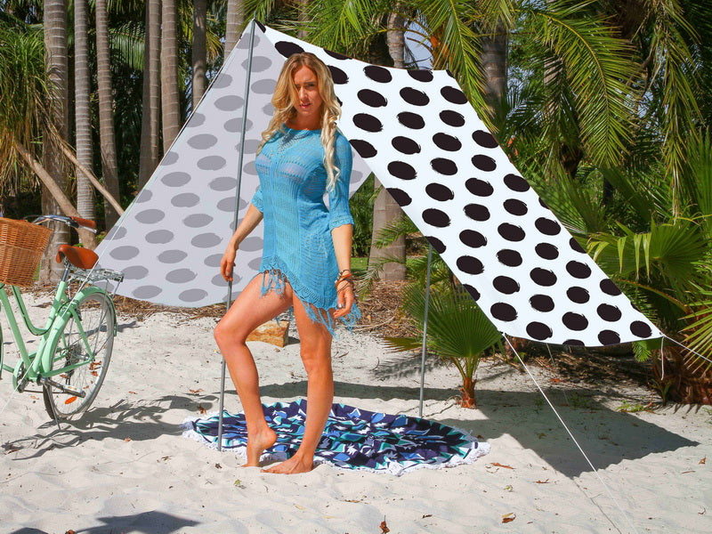 Good Vibes Summer Beach Tent Spot Black 148x370cm