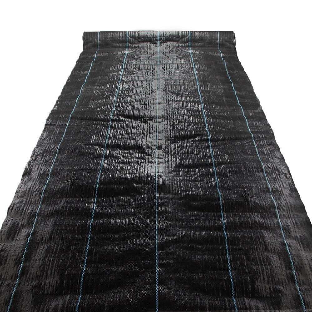 Instahut 0.915m x 50m Weedmat Weed Control Mat Woven Fabric Gardening Plant