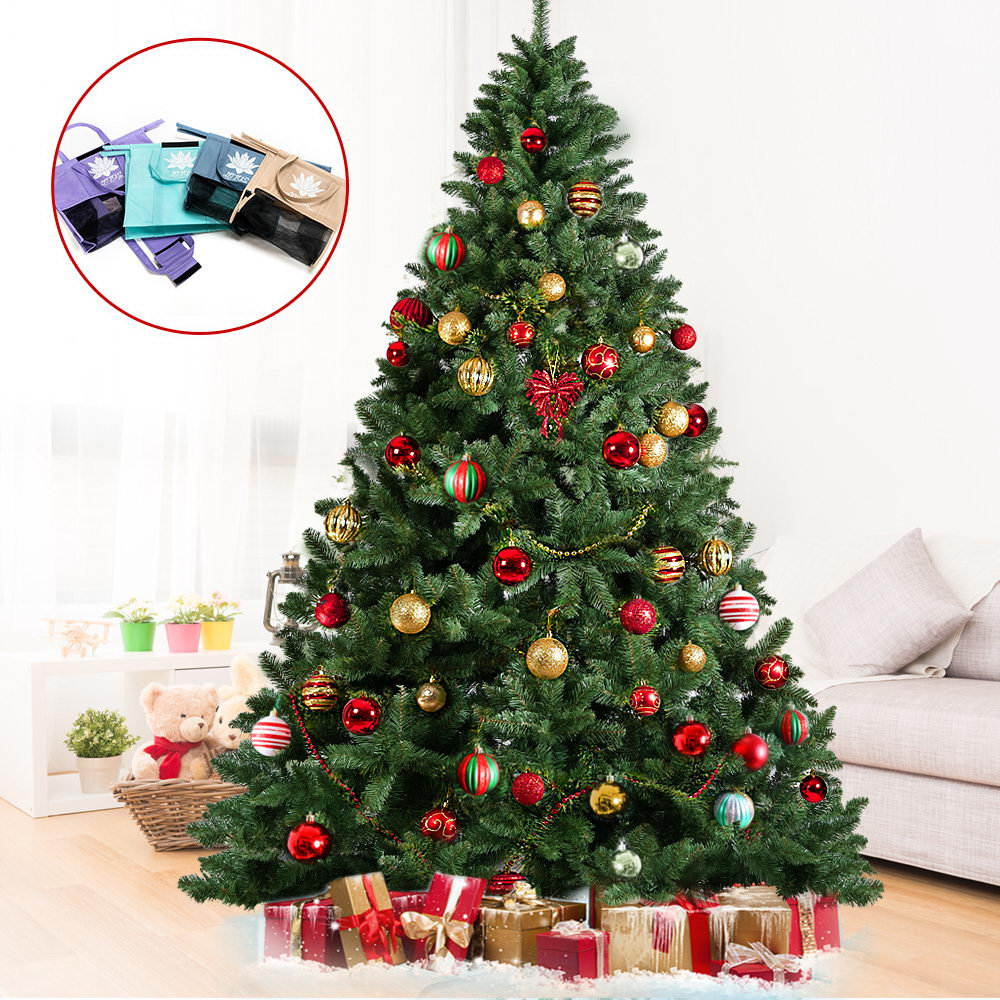Jingle Jollys 2.4M 8FT Christmas Tree Xmas Decoration Green Home Decor Bonus Bags