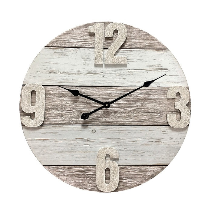 Timber Classic Round Clock