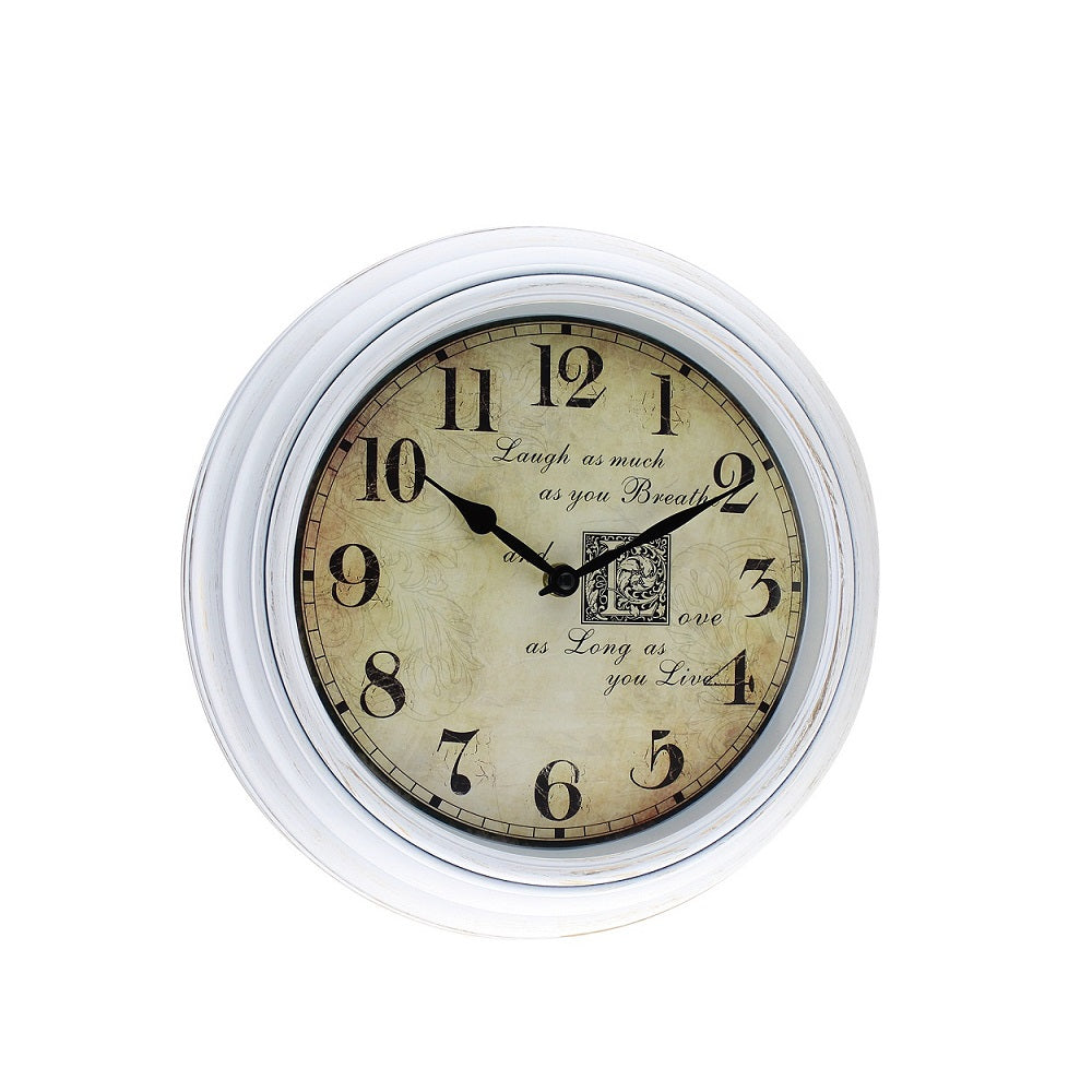 Classical Romantic 12'' Plastic Wall Clock