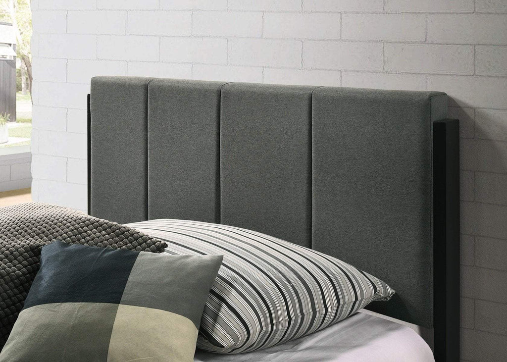 Fabric Upholstered Bed Frame in Charcoal - Queen