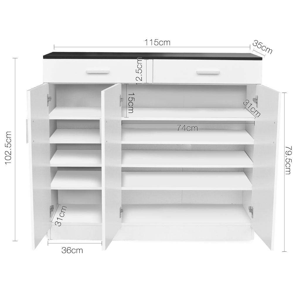Artiss 5 Tier Shoe Cabinet with Adjustable Shelves