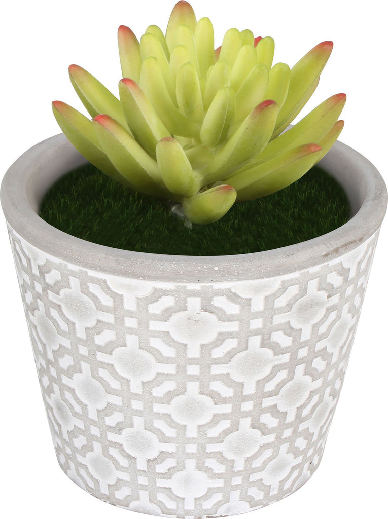 Concrete Pot 12.5X12.5X10.2Cm Tapered Round Aztec