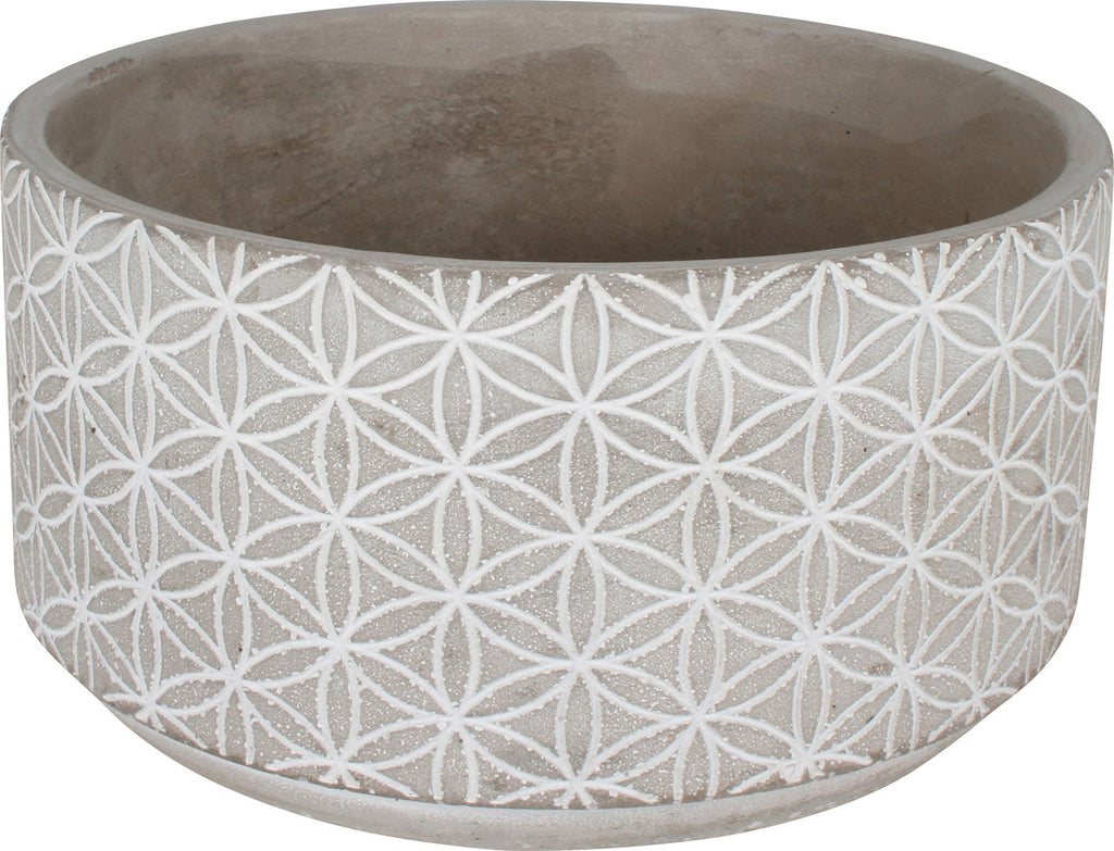 Concrete Pot 16X16X8.2Cm Round Kaleidoscope Large