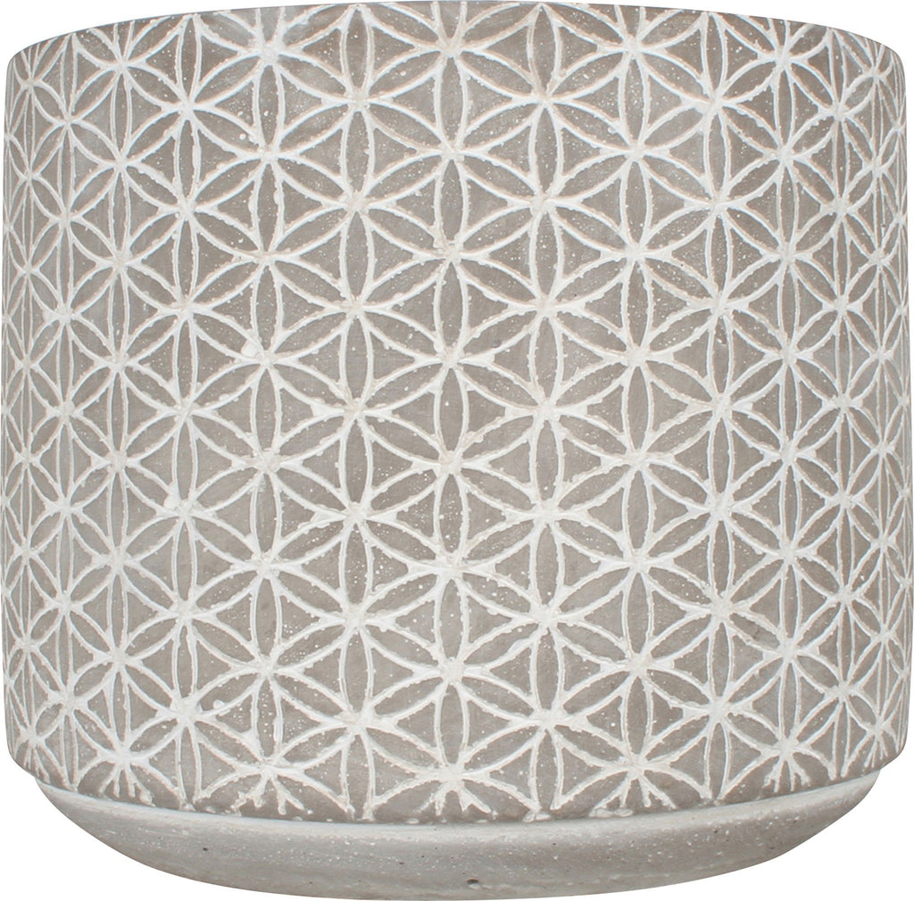 Concrete Pot 17X17X15.2Cm Round Kaleidoscope Small