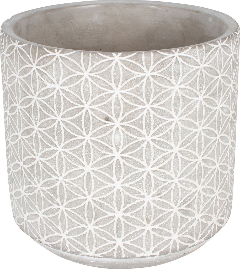 Concrete Pot 13X13X12.7Cm Round Kaleidoscope Medium