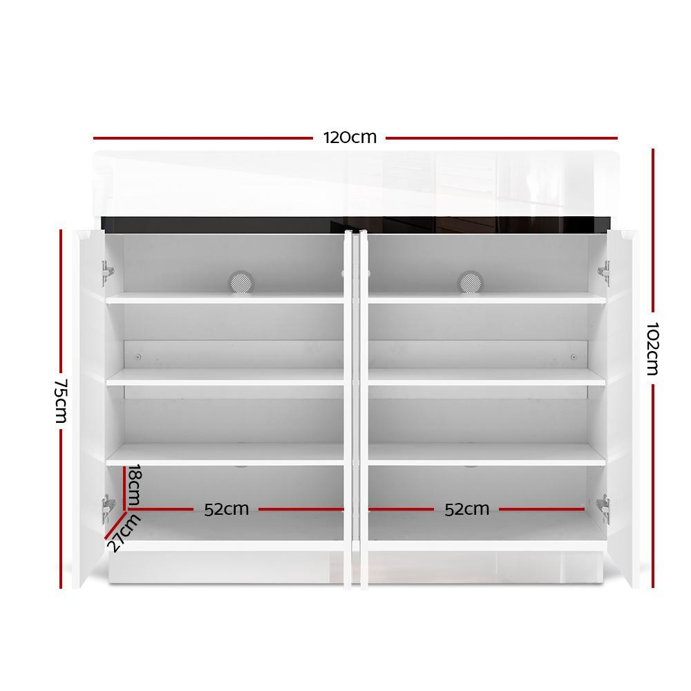Artiss High Gloss Shoe Cabinet Storage Rack Organisers Boxes Cupboard Drawers