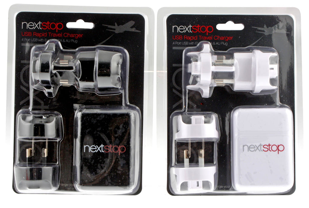 4 Port Usb Rapid Travel Charger 2 Asst