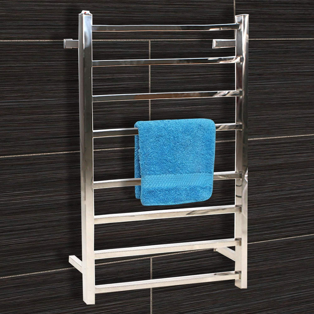 8 Ring Electric Heated S/S Towel Rack 220-240V Mounted