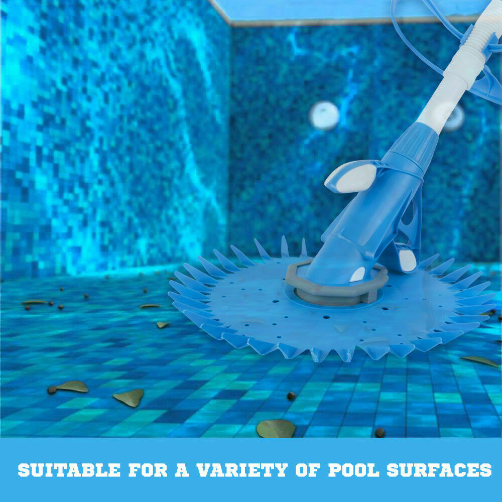 Swimming Pool Cleaner Floor Blue Climb Wall Automatic Vacuum 10M Hose