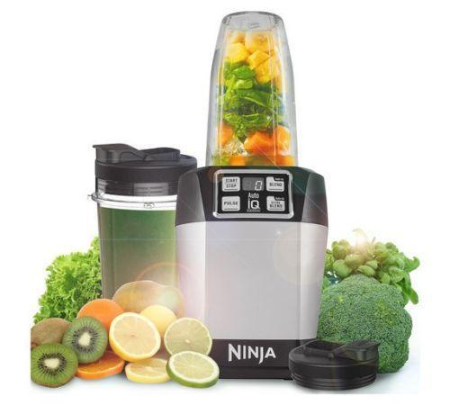 Nutri Ninja Blender with Auto IQ Create Cool Smooth And Great Tasting Silver NEW