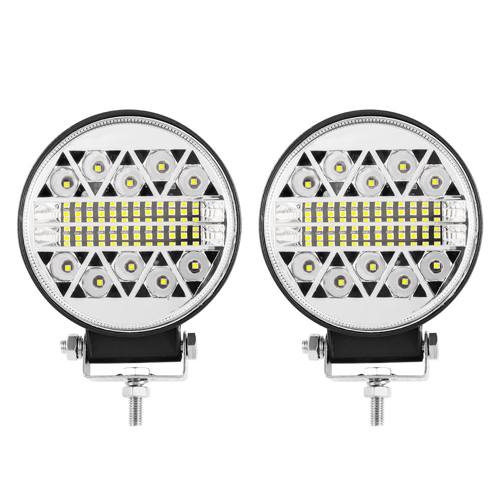 Pair 4Inch Led Driving Lights Round Work Spot Flood Work Driving Lamp Offroad