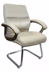 GREENWICH •  Medium Back Executive Cantilever Armchair with Chrome Frame