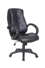 OMEGA • Omega Bonded leather Managers Chair - Black