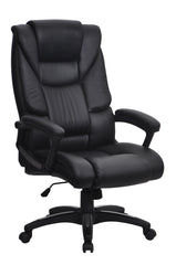 TITAN • Leather Effect Executive Chair - Black