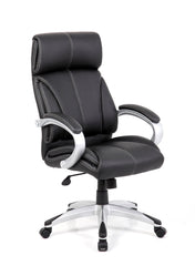 CLOUD • Leather Faced Managers Chair - Black