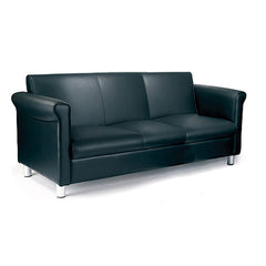 Florence- Quality Leather Faced Three Seater Sofa