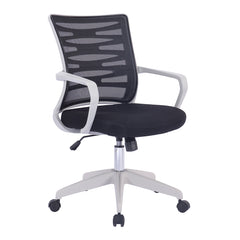 SPYRO • Designer Mesh Armchair with White Frame and Detailed Back Panelling