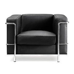 Belmont - Contemporary Cubed Leather Faced Reception Chair