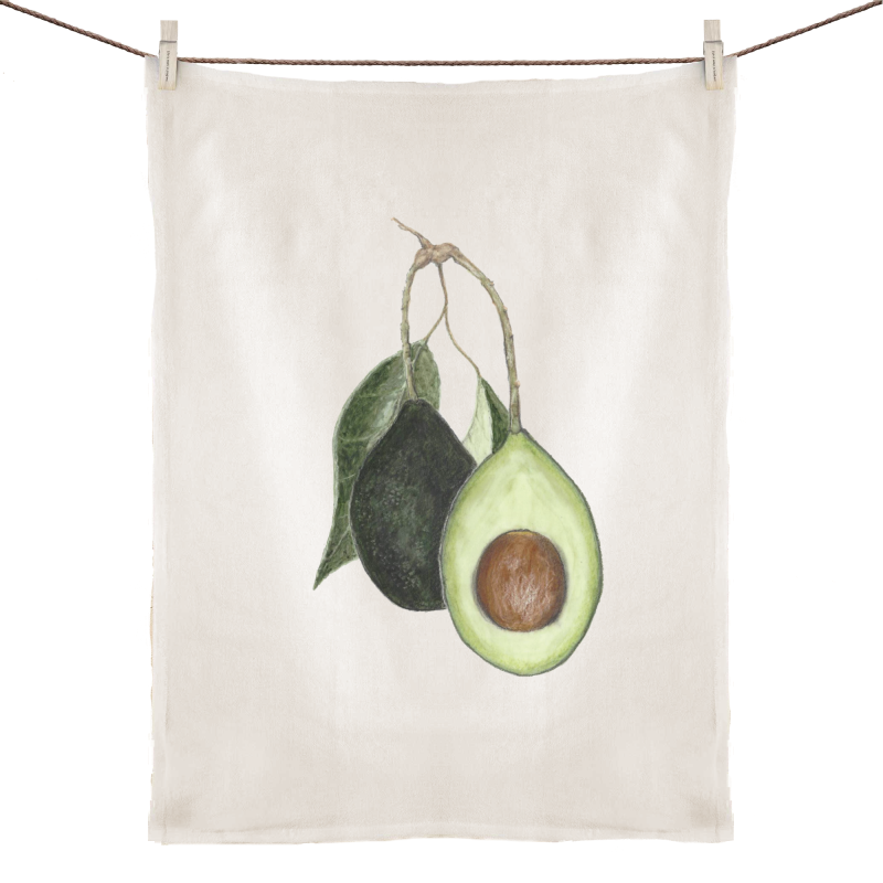 Avocado love - 100% Linen Tea Towel