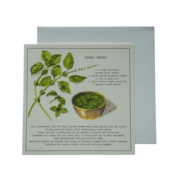 Basil Pesto Recipe Greeting card