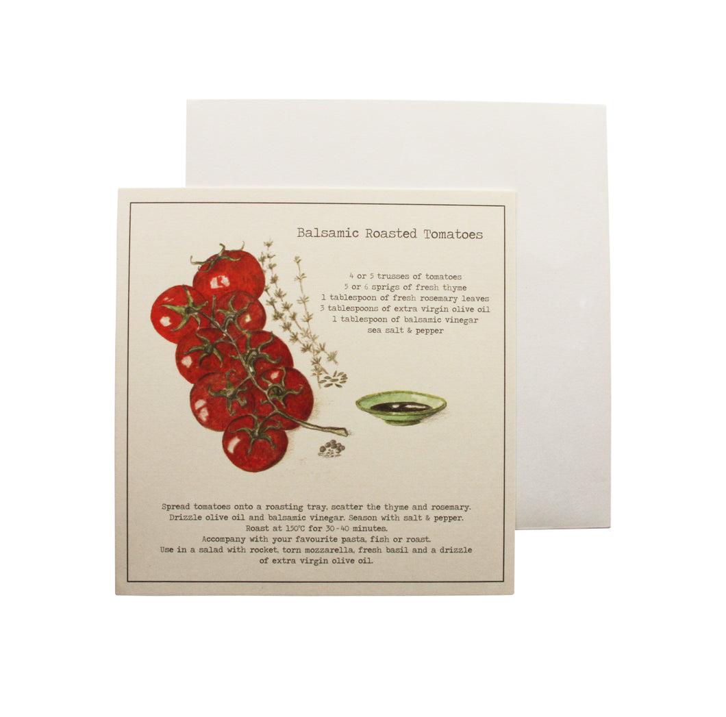 Balsamic roasted tomatoes Recipe Greeting card