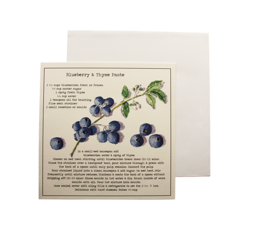 Blueberry & Thyme Paste Recipe Greeting Card