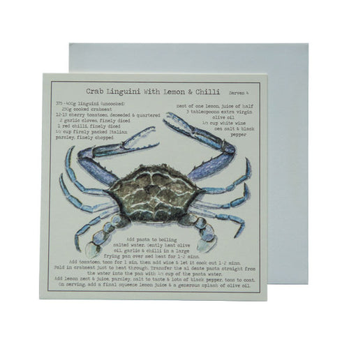 Crab Linguini with Lemon & Chilli Recipe Greeting card