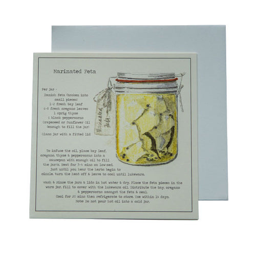 Marinated Feta Recipe Greeting Card