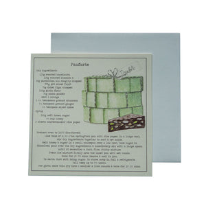Panforte Recipe Greeting Card
