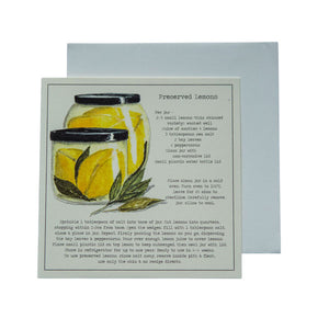 Preserved Lemons Recipe Greeting card