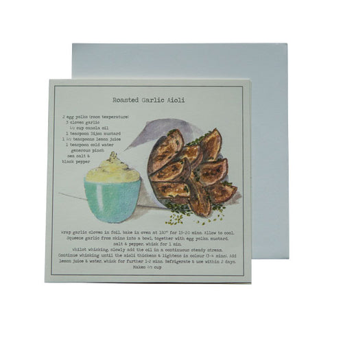 Roasted Garlic Aioli Recipe Greeting card