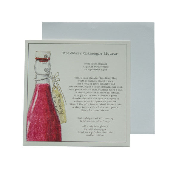 Strawberry Champagne Liqueur Recipe Greeting card