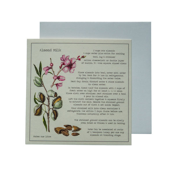 Almond Milk Recipe Greeting card