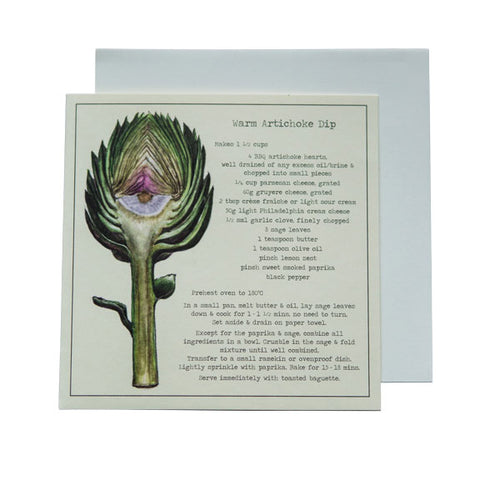 Warm Artichoke Dip Recipe Greeting card