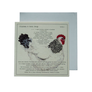 Chicken & Corn soup Recipe Greeting card