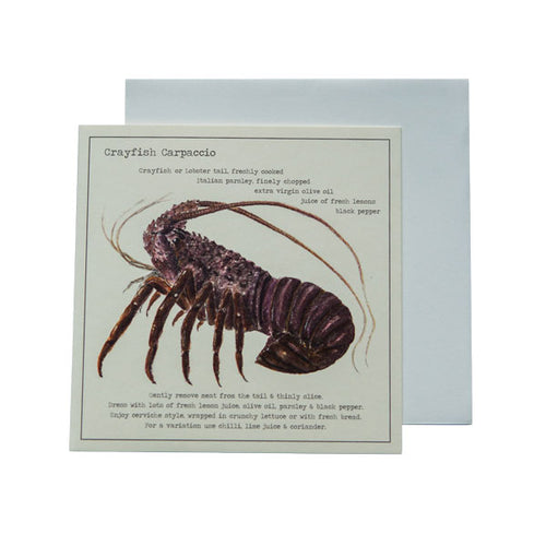 Crayfish Carpaccio Recipe Greeting card