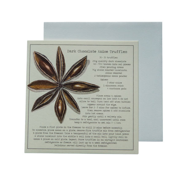 Dark Chocolate Anise Truffles Recipe greeting card